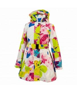 Пальто детское демисезонное LEANDRA HUPPA белое