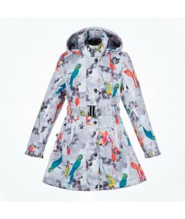 Пальто детское демисезонное LEANDRA HUPPA 91220 белый