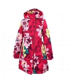 Пальто детское демисезонное LUISA Huppa 91363 фуксия с принтом