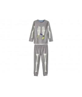Пижама с принтом хеллоуин лонгслив Lupilu серая