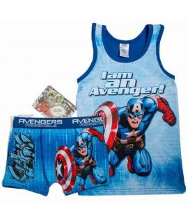 Пижама Мстители Disney Arditex AV11235 синяя