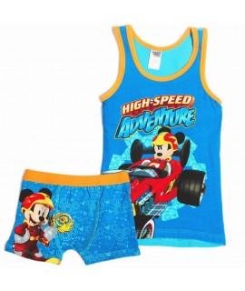 Пижама Микки и веселые гонки Disney Arditex WD11888 синяя