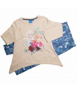 Комплект из трикотажа Холодное сердце Disney (Sun City) HQ1217 бежевый с голубым