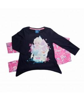 Комплект из трикотажа Холодное сердце Disney (Sun City) HQ1217 темно-синий с розовым