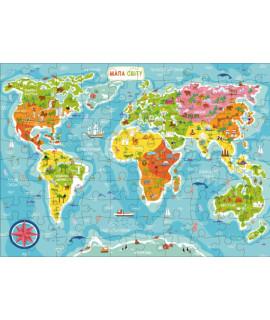 Пазлы DoDo Карта Мира 300110/100110