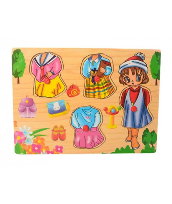 Деревянная игрушка Рамка-вкладыш MD 1305-3