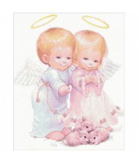 Алмазная вышивка Дети Ангелочки Идейка AM1006