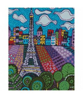 Алмазная вышивка Облака в Париже 40х50 см Идейка AM6032