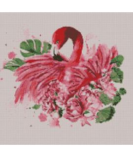 Алмазная вышивка Грациозный фламинго Идейка AM6113