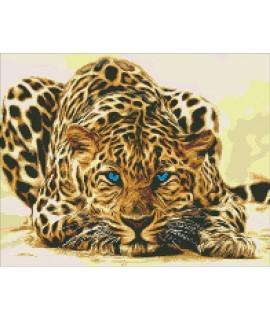 Алмазная вышивка Леопард притаился Идейка АМ6125