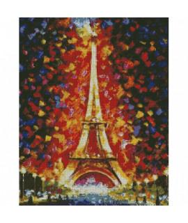Алмазная вышивка Эйфелева башня в огне 40х50 см Идейка AM6136