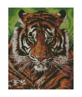 Алмазная вышивка Непомедимый тигр 40х50 см Идейка AM6140