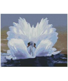 Алмазная вышивка Лебединая любовь 50х40 см Strateg FA10031
