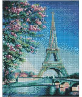 Алмазная вышивка Весна в Париже Strateg FA20153