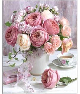 Алмазная вышивка Букет нежных роз Strateg FA40435