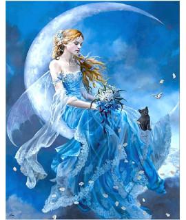 Алмазная вышивка Девушка на луне Strateg FA40488