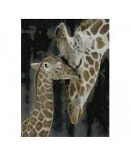 Алмазная вышивка Жираф с дитенышем Strateg HX204