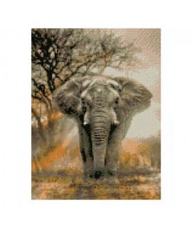 Алмазная вышивка Могучий слон Strateg HX205