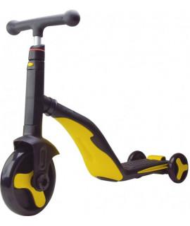 Самокат трансформер детский SC20110 желтый-черный